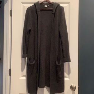 Open - Front Duster Hooded Sweater